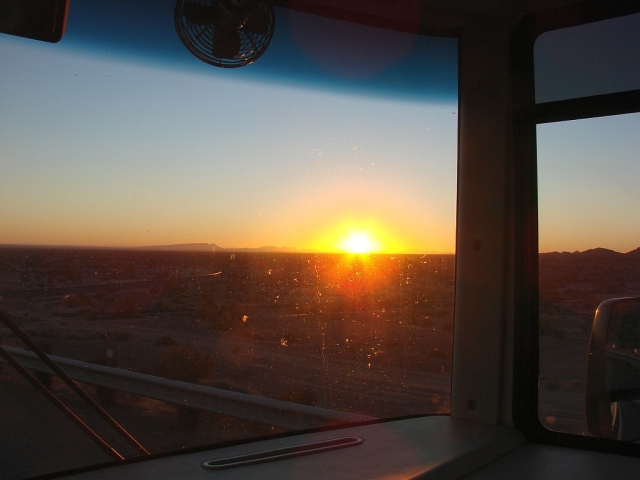 2014-1-15d Arizona sunrise on I-8
