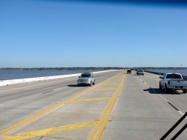 2014-1-18i crossing Lake Houston a bit before arriving at Huffman