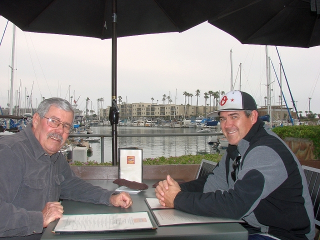 2014-1-24i Dean and I at lunch at the harbor.