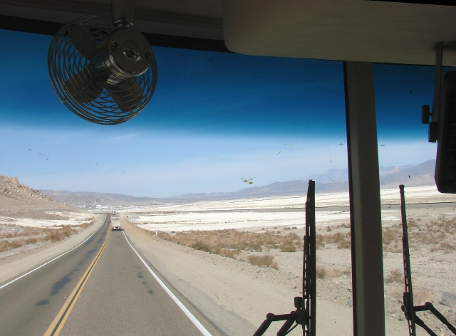 2014-2-20d approaching Trona along SR178. In the 70s I hauled chems from here.