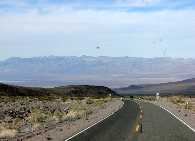 2014-2-20n dropping down the long, steep, up to 8 percent grade to Stovepipe Wells.