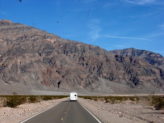 2014-2-21v long pull out of the valley to Beatty, NV