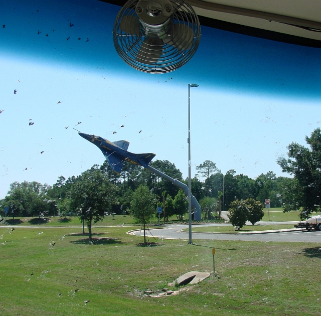 2014-5-18g Pensacola rest area, mighty proud of their Naval Air Base