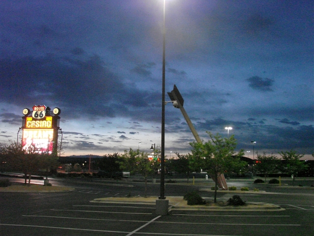 2014-5-22a daybreak as I leave Route 66 Casino near Albuquerque