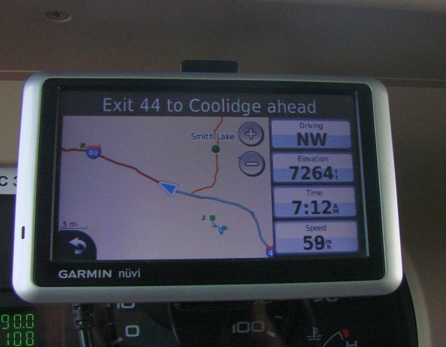 2014-5-22h Continental Divide elevation on my navigator