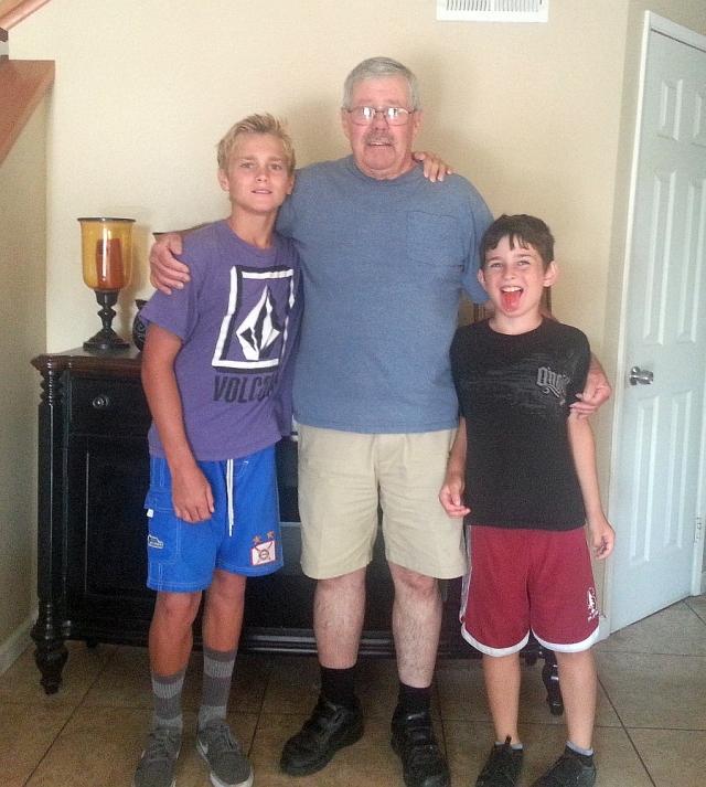 2014-7-26c Connor, Grandpa, and Aidan's tongue