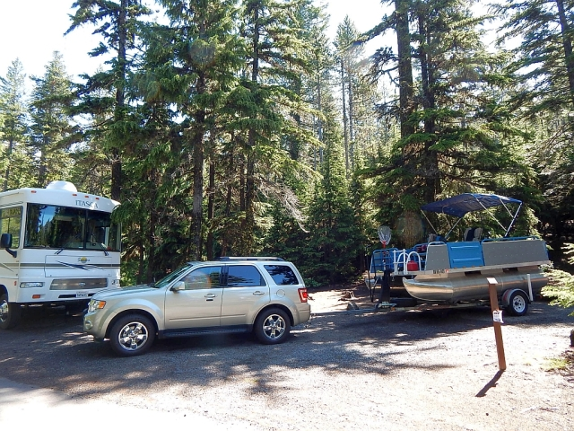 2014-7-9a our campsite with coach, Al's rig