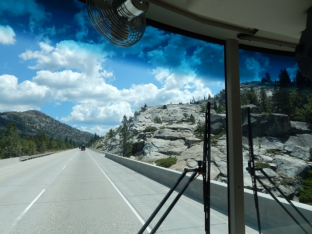 2014-8-25e I-80 pulling uphill to Donner