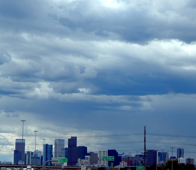 2014-8-28i storm over Denver skyline
