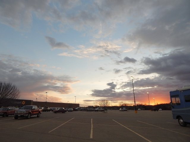 2015-1-29M sunset at Lampasas Walmart