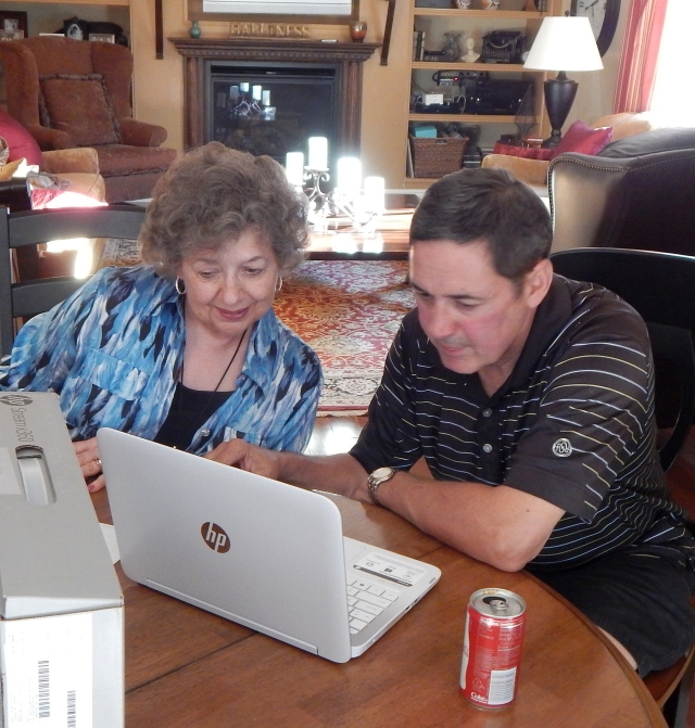 2015-9-20a Lavonne learning the new HP