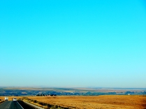 Much of the drive was through country as dry as toast!