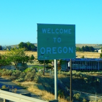 Upon crossing the Columbia River we were officially welcomed to Oregon!