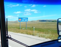 As we crossed the state line into Montana this sign greeted us. The Crow Reservation is over 3500 sq. miles and we drove across it for many, many miles.