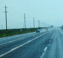 It was a rainy drive home and we are thankful for every drop - we may have the awful drought behind us by summer!