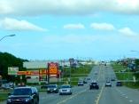 Arriving in Pratt, Kansas.