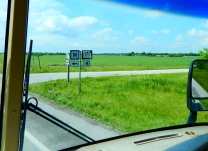 I was in Missouri almost at once, and there was no welcome sign, only a sign that said I was leaving Kansas. This Missouri hiway sign was the only indication that I had entered Missouri.