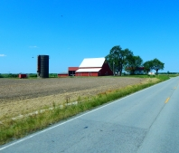 Beautiful farming spread.