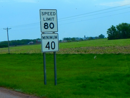 South Dakota, like Utah and Texas and maybe a few more states, has a sensible speed limit for the wide open interstate highway. Still, I plodded along at 60 MPH all day.