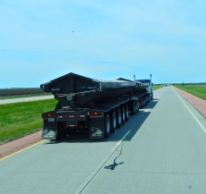 I believe this was South Dakota in May, 2017: A monster set of doubles! Imagine the weight of that rig!