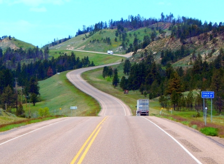 Another very cool photo of US212 winding through remote Montana.