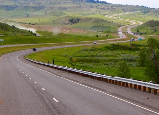 Yet another photo of a winding highway, this on is I-90 heading toward Billings, Montana. Beautiful!