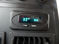 ...and it was cold. I had the heater on high virtually all day.