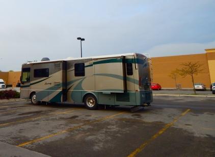 Morning at the Missoula, MT Walmart where my day began.