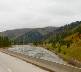 The Clark Fork River which I crossed time and again on I-90.
