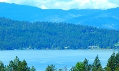 Beautiful Coeur d'Alene Lake near the city of the same name.