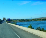 Crossing the Columbia River into Oregon.