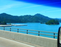 Beautiful! Lake Shasta was full to the brim!