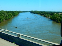 Crossing the Sacramento River near Sacramento.