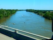 Crossing the Sacramento River near Sacramento.