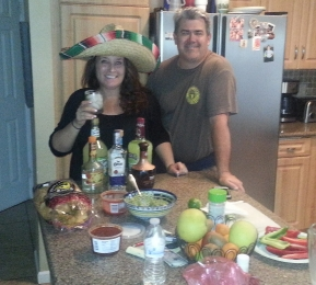 It was Cinco de Mayo! Any excuse to break out the margaritas and tacos!