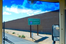 I-40 begins at Barstow, CA where I turned onto it from I-15 and it runs all the way to, uh... well, now you know!