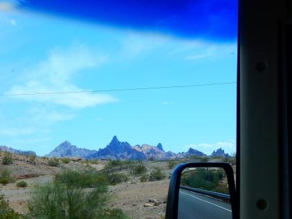 A most unusual range of hills along I-40 in Arizona.