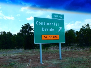 I crossed the divide at 7275 ft.