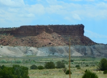 More beautiful New Mexico; the monumental formations seemed never to end.