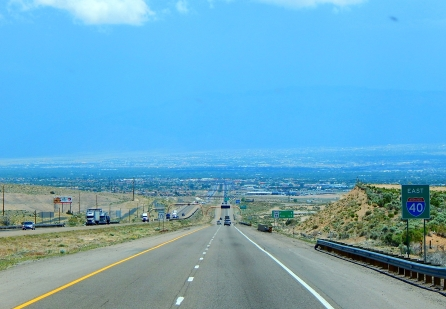 Dropping into Albuquerque and I streaked through in a hurry!