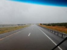 Rain! Hail! Wind! Lightning! Thunder! The huge storm I drove through was plenty for one trip.