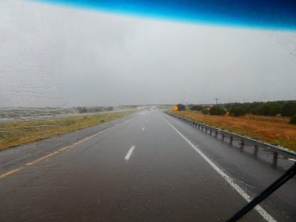Rain! Hail! Wind! Lightning! Thunder! The huge storm I drove through was plenty for one trip.