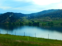 Echo Reservoir along I-80 in Utah.