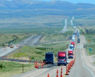Note to Kalifornistan: In Wyoming they actually shut down one side of the highway and rebuild it. While this probably isn't feasible in high density areas, it sure beats the endless patch, patch, patch that Kalifornistan seems to be content with.