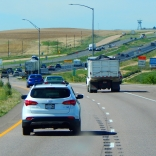 Heavy traffic - and this was 40 miles before Denver!