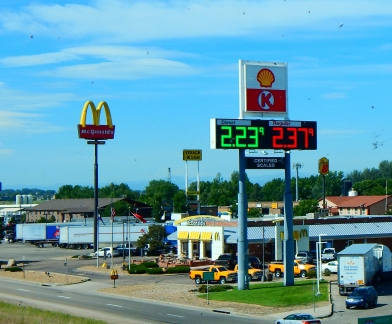 Wouldn'cha know?! 20¢ cheaper diesel in Colorado! It's even cheaper than gas!