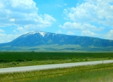 Beautiful Elk Mountain (I think) in Wyoming.