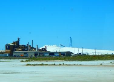 A Morton's Salt plant on the shores of The Great Salt Lake. Imagine that!