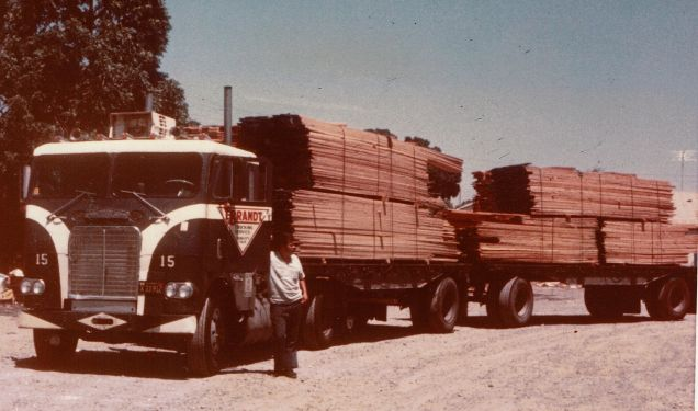 After hauling logs I learned to haul lumber and considered it a much better job simply because I was off the rough old logging roads and full time on the highways.