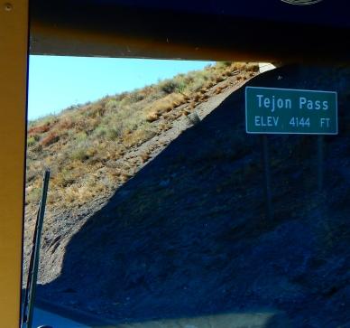Tejon Pass just above Frazier Park.